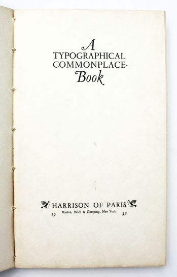 A TYPOGRAPHICAL COMMONPLACE BOOK -  image 2