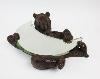 BLACK FOREST BEAR MIRROR -  image 1