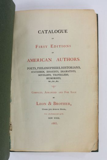 CATALOGUE OF FIRST EDITIONS OF AMERICAN AUTHORS. -  image 2