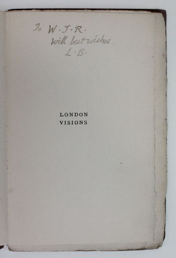 FIRST BOOK OF LONDON VISIONS -  image 2
