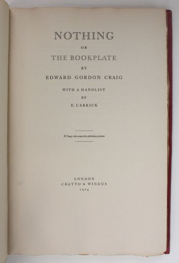 NOTHING OR THE BOOKPLATE -  image 4