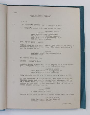 THE BRASHER DOUBLOON filmed as TIME TO KILL. The Final Shooting Script. -  image 4