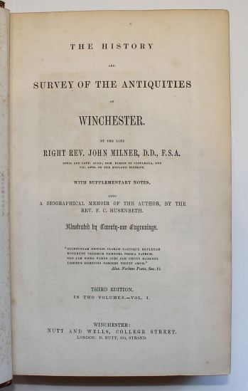 THE HISTORY AND SURVEY OF THE ANTIQUITIES OF WINCHESTER; -  image 3