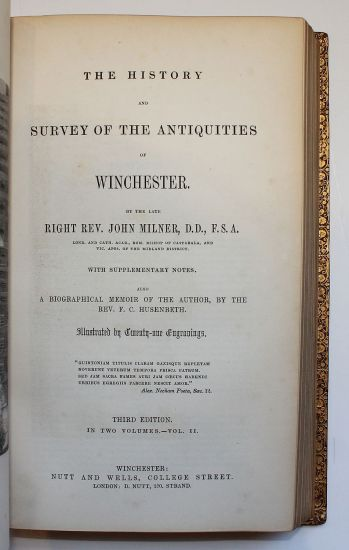 THE HISTORY AND SURVEY OF THE ANTIQUITIES OF WINCHESTER; -  image 4