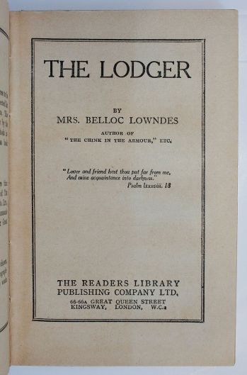 THE LODGER -  image 5