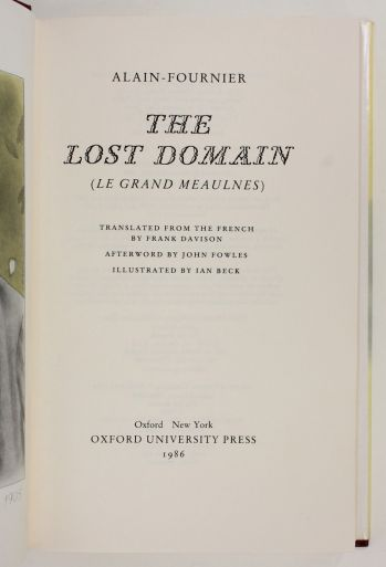 THE LOST DOMAIN. Le Grand Meaulnes. -  image 3