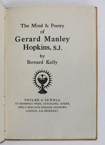 THE MIND AND POETRY OF GERARD MANLEY HOPKINS, S. J. -  image 2