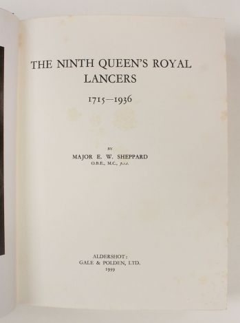 THE NINTH QUEEN'S ROYAL LANCERS 1715-1936 -  image 3