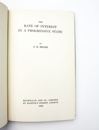 THE RATE OF INTEREST IN A PROGRESSIVE STATE -  image 1