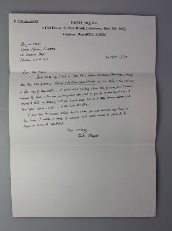 THE RAYNER UNWIN COLLECTION OF ROALD DAHL. Comprising JAMES AND THE GIANT PEACH, CHARLIE AND THE CHOCOLATE FACTORY, FANTASTIC MR FOX, THE MAGIC FINGER and others, Together with Several Typed Letters Signed, Between the Author and his Publisher. -  image 10