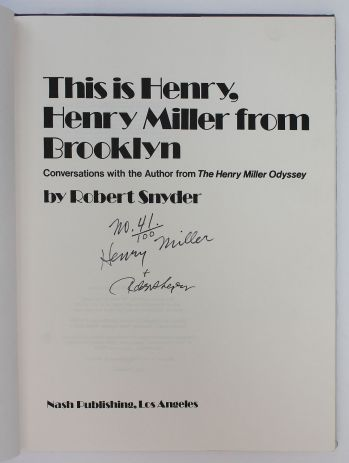 This is Henry, Henry Miller from Brooklyn -  image 3
