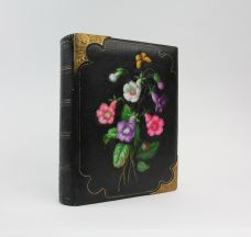 EUROPEAN GRAND TOUR PHOTOGRAPH ALBUM IN A VIENNESE PORCELAIN-DECORATED BINDING