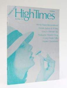 HIGH TIMES. Premiere Issue. Summer 1974.