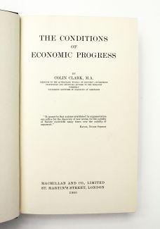 THE CONDITIONS OF ECONOMIC PROGRESS